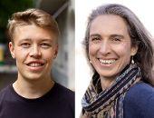 Moritz Piepel und Vivian Dittmar sprechen bei der 9. Neumarkter Nachhaltigkeitskonferenz (Fotoquellen: Piepel - Hannah Hernandez Hess, Dittmar - Axel Hebenstreit)