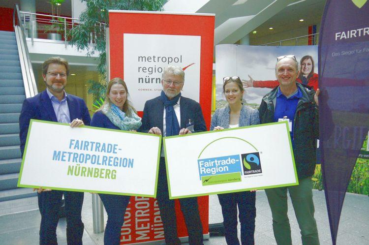 Das Kernteam für die Faire Metropolregion: Ralf Mützel, Marina Malter, Dr. Roland Oeser, Mareike Grytz und Frank Braun.