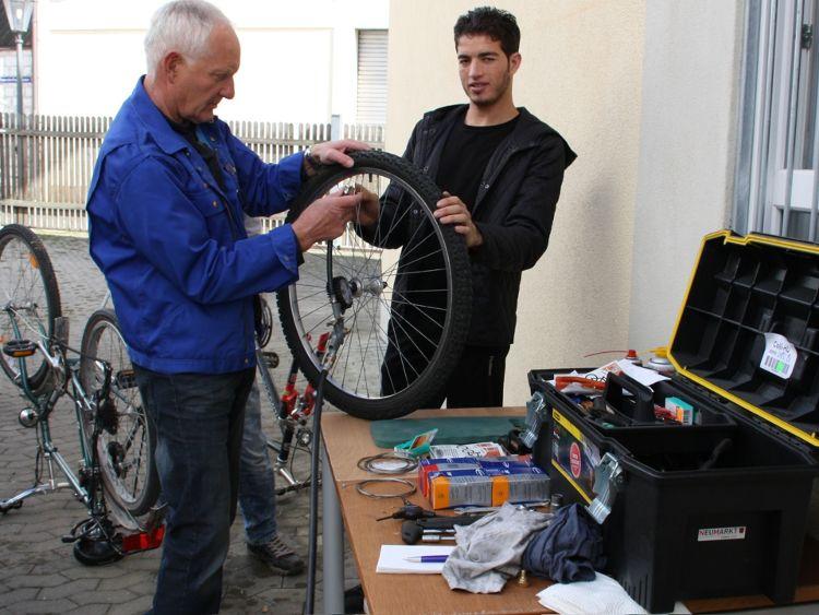 Fahrradwerkstatt für Flüchtlinge