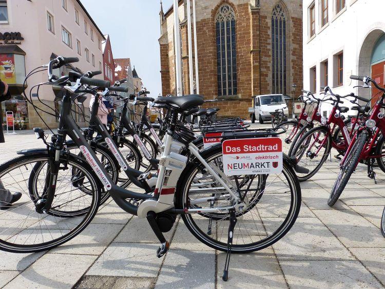 Stadträder erstmalig im Einsatz